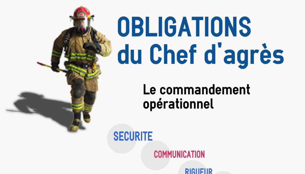 Obligations du chef d'agrès