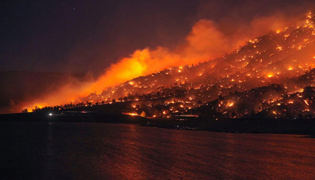 Gigantesque incendie de Forêt, Californie, Erskine