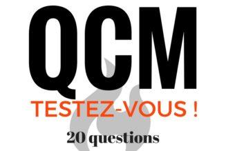INCENDIE – Testez-vous ! QCM 20 Questions