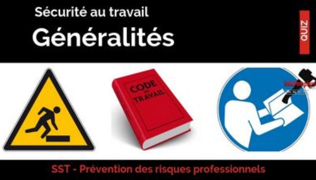 QCM – prévention des risques – généralités